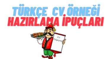 Türkçe Cv Örnekleri