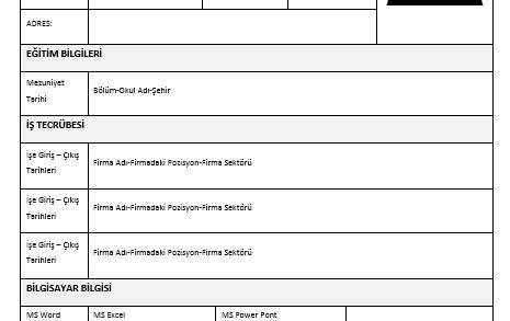 a101 iş başvuru formu